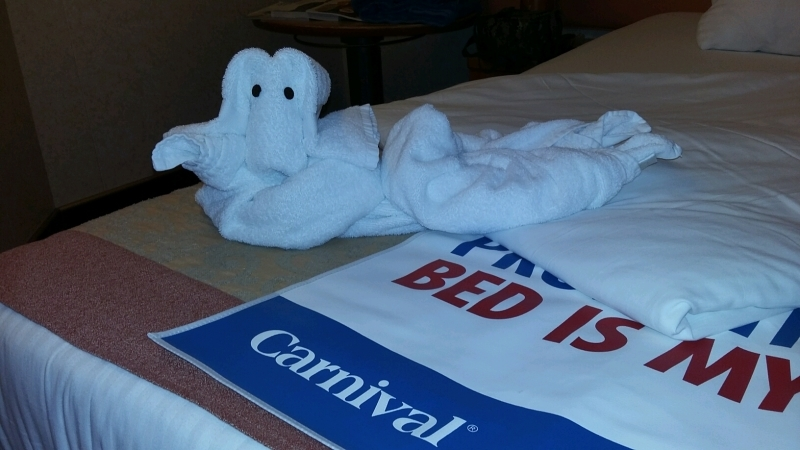 waiting for us our first night on the ship - Carnival Liberty