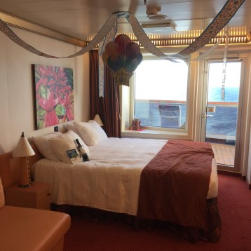 Aft-View Extended Balcony Stateroom on Carnival Magic