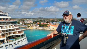 Aft-View Extended Balcony Stateroom on Carnival Conquest