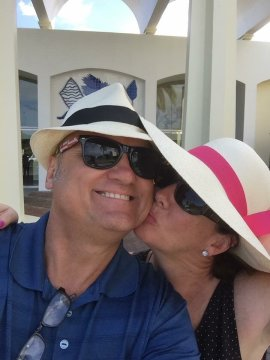 New Hats with my beautiful wife