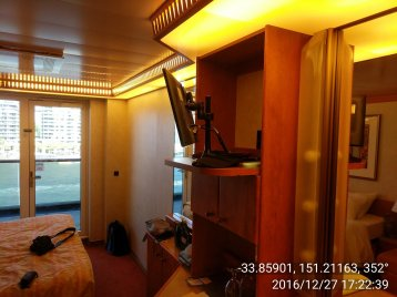 Extended Balcony Stateroom on Carnival Legend