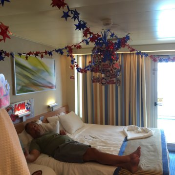 Aft-View Extended Balcony Stateroom on Carnival Sunshine