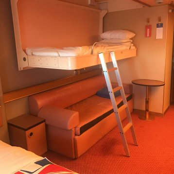 Interior Bunk Bed Stateroom on Carnival Triumph