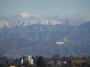 the Hollywood sign from the airport