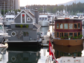 House boats in Vancouver harbour
