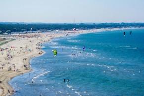 Beach near cruise port in Ravenna