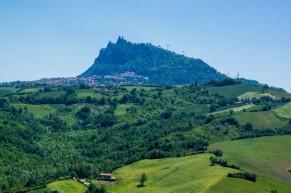San Marino on top of hill
