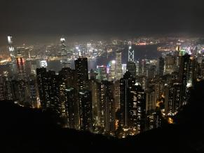 Victoria Peak at night. Hong Kong