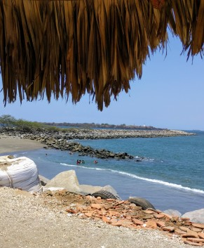 El Espigon private beach.