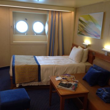 Interior Bunk Bed Stateroom on Carnival Sunshine