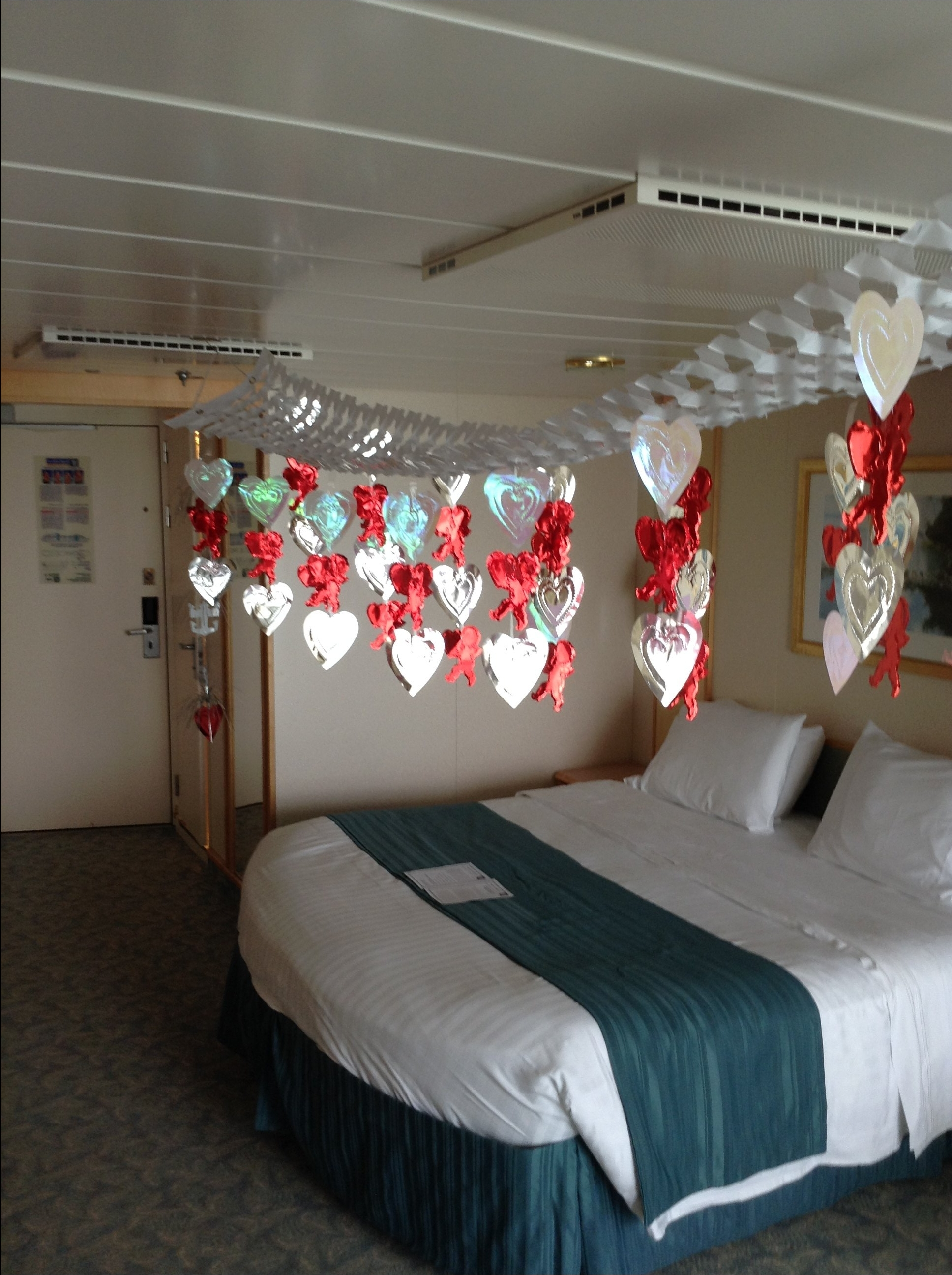 Freedom Of The Seas Cruise Review May 11 2014 Seriously Stateroom Decorations Congratulating Our 45th Wedding