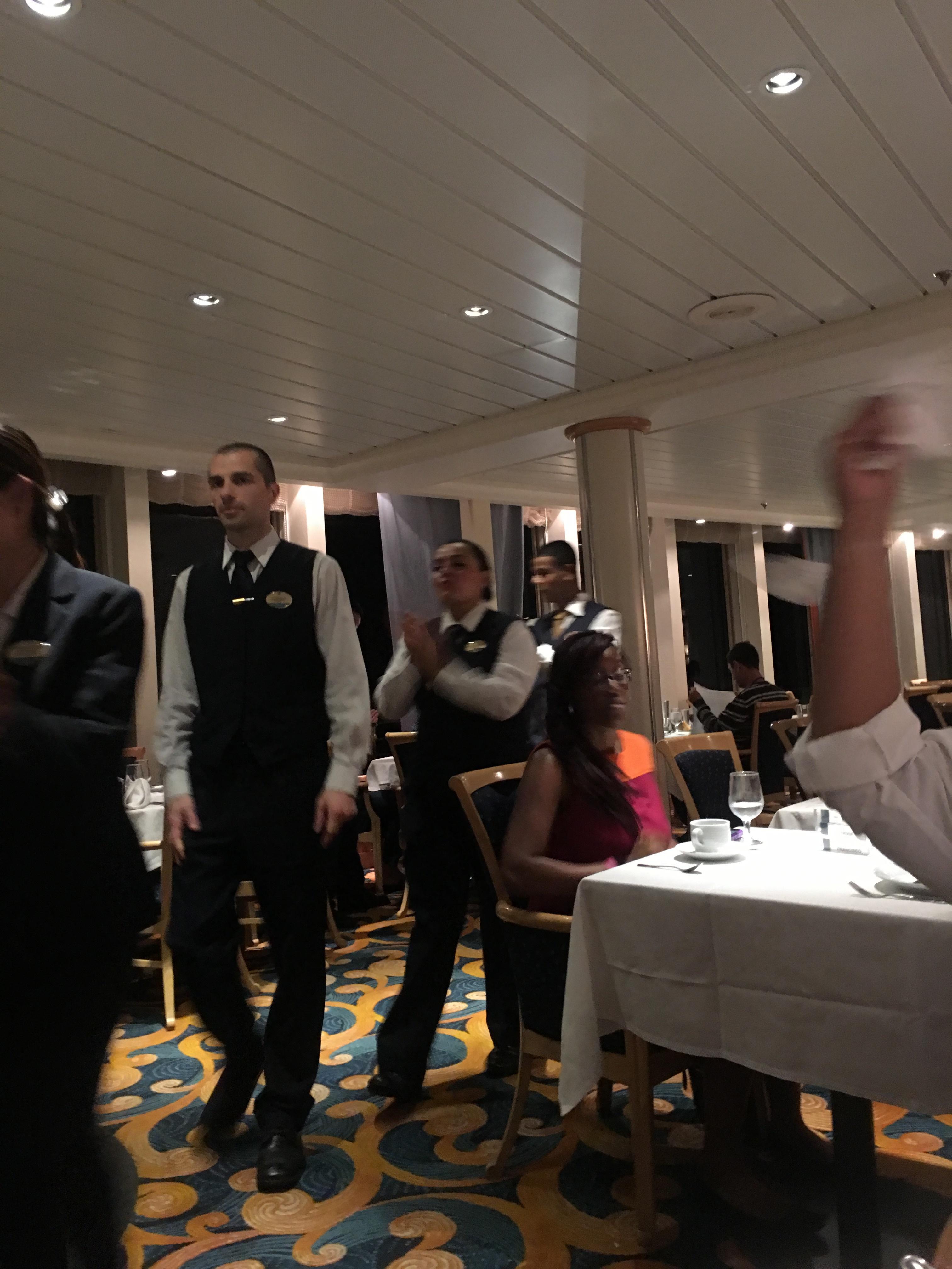 Terrific dining staff