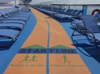 Running Track on Anthem of the Seas