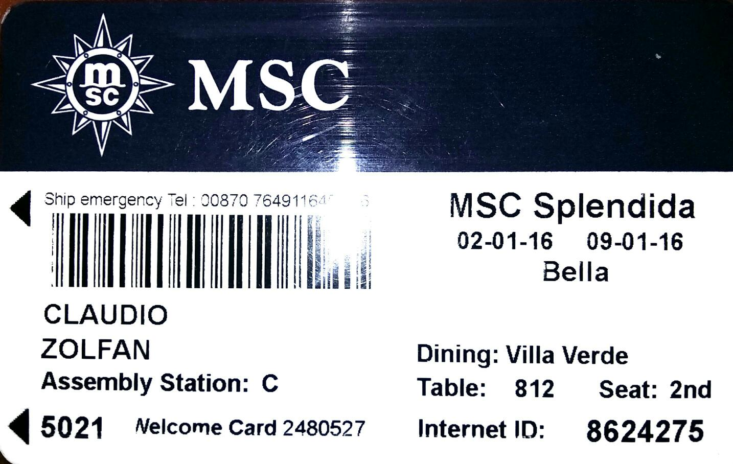 MSC Splendida Professional Photo