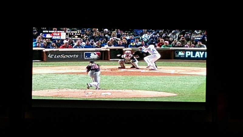 World Series on big screen - Liberty of the Seas
