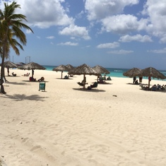 I just thought the beaches of Aruba were so beautiful.