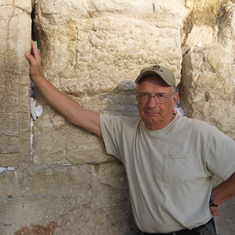Western Wall---Of King Herod the Great's temple. Only remains now left.
