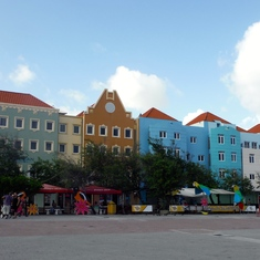 Willemstad, Curacao - Colorful buildings of Curacao