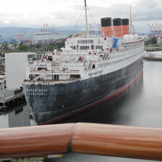 Queen Mary from our cabin.