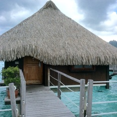 Our bungalow over the lagoon