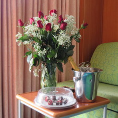 A surprise for my wife in the cabin at sail away