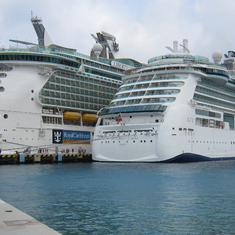 Liberty and Brilliance of the Seas in Cozumel