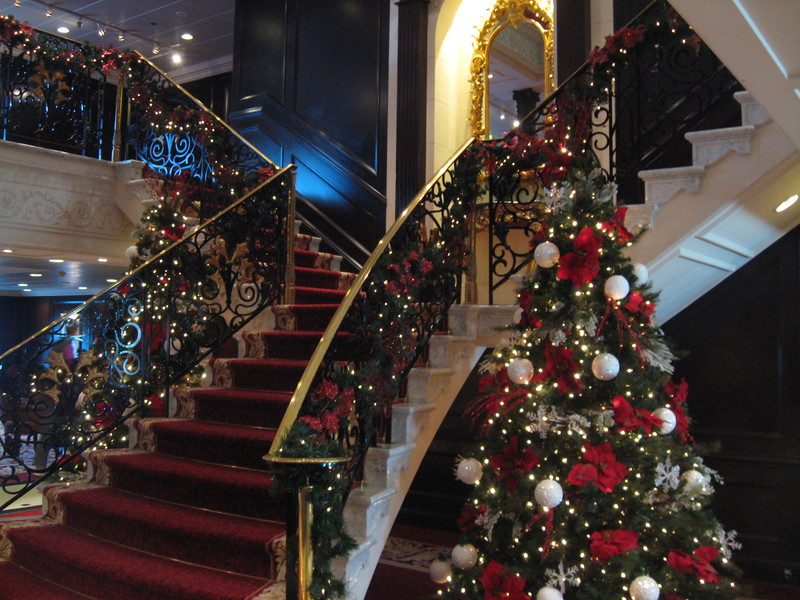 Princess decorated our ship for Christmas - Pacific Princess