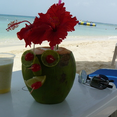 San Francisco Beach at Cozumel  with the required beverage purchase (about $11)