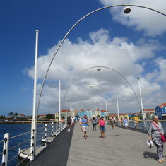 Willemstad, Curacao - Williemstad. On the bridge