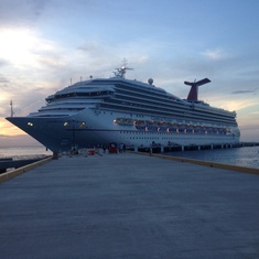 Cozumel, Mexico - Our ship in Mexico!