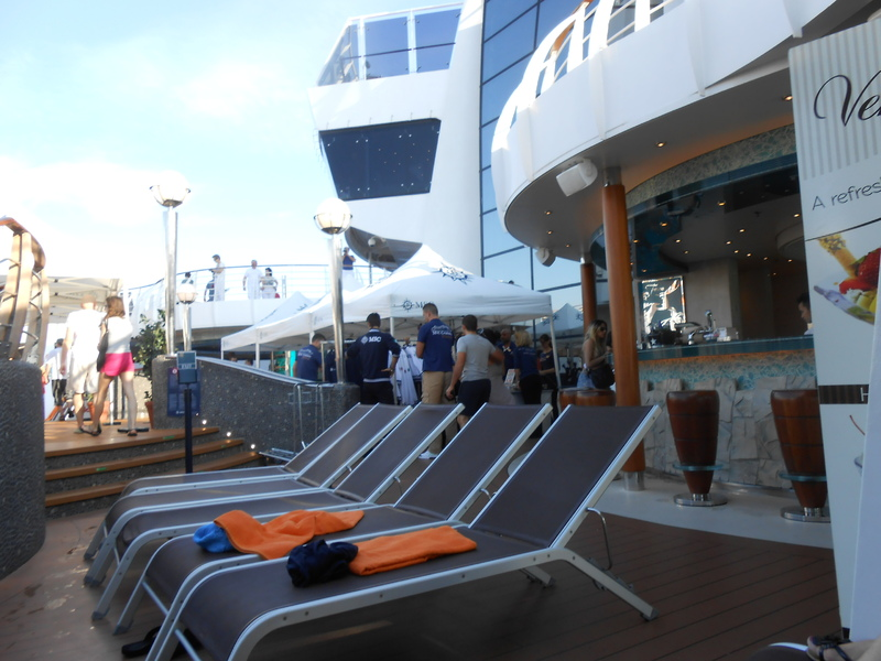 top deck - MSC Divina