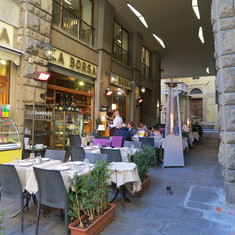 Typical Cafe in Florence, Italy