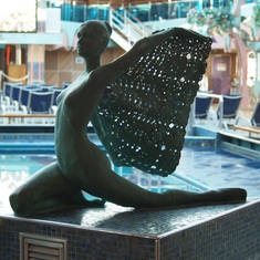 Ship statue,poolside