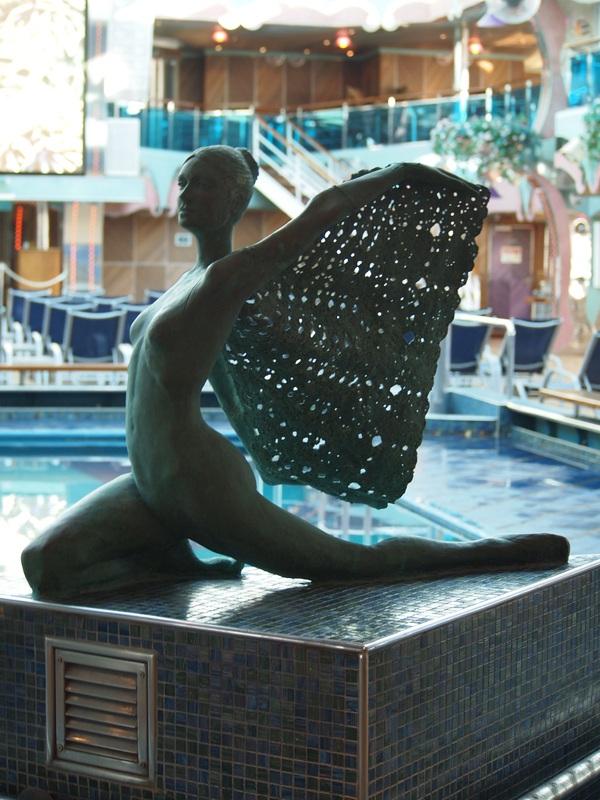 Ship statue,poolside - Carnival Splendor