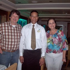 With waiter Jokin