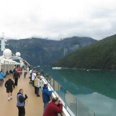 Cruise Tracy Arm Fjord, Alaska - Big Bend in Tracey Arm
