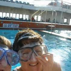 pool twin fun on deck