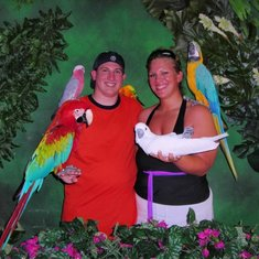 St. Thomas excursion on the Skyride... Bird show and picture with the birds
