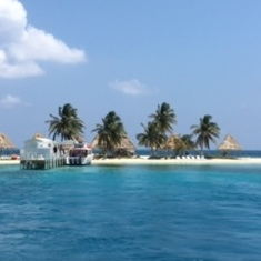 Island in Belize we snorkeled from