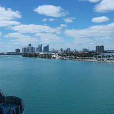 View from the ship in Miami