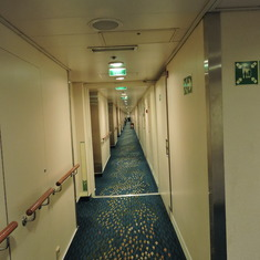 the hallway of the staterooms