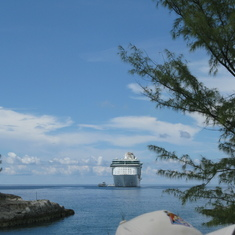 Cococay (Cruiseline's Private Island) - A glimpse of the ship