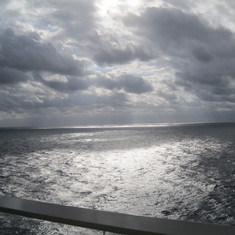 A day at sea; view from balcony