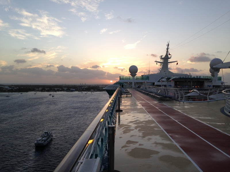 The highlight of each day~ walking the track at sunrise. - Liberty of the Seas