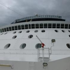 Celebrity Infinity - view from Helipad
