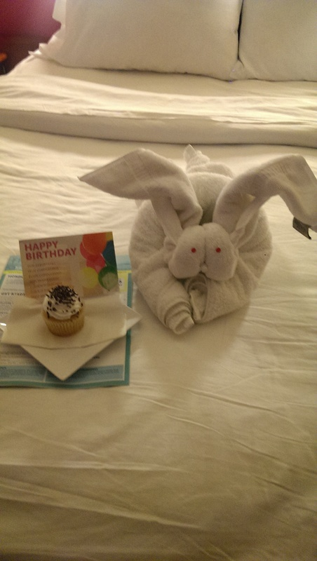 Birthday surprise in room - Norwegian Jade