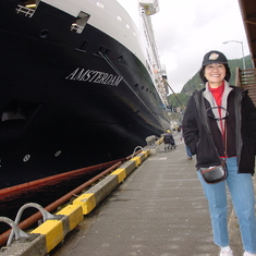 HAL Ms Amsterdam & Wife