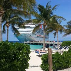 The Carnival Conquest docked in Grand Turks