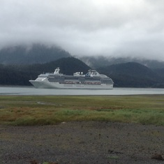 Coral leaving Juneau