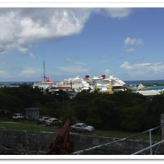 View of Nassau harbor from Fort Fincastle